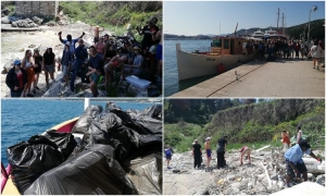 WELL DONE: Norwegian students clean beach at Kolocep during their Dubrovnik trip