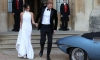 Croatian Princess takes Prince Harry's Jaguar for a spin before Meghan
