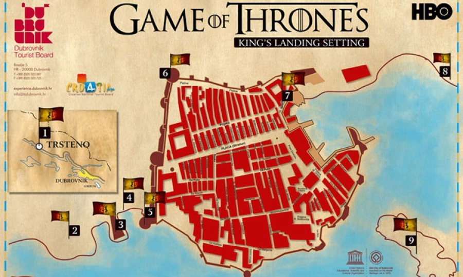 Abc news promotes dubrovnik through game of thrones the dubrovnik location map in dubrovnik gumiabroncs Images