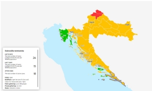 Covid-19 map of Croatia proving popular with tourists – Dubrovnik-Neretva County on verge of green listing