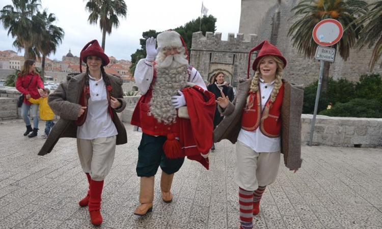 Father Christmas in Dubrovnik!