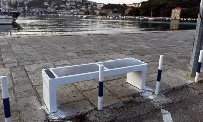 Smart benches in the Port of Dubrovnik