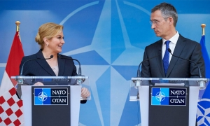 Croatian President with NATO Secretary General