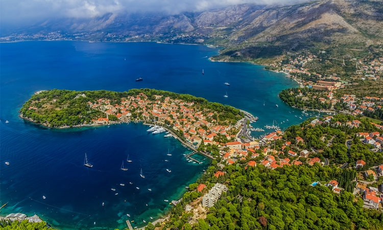 Cavtat from the air