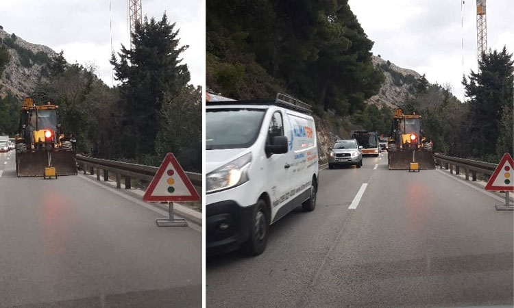 Expect delays on main Dubrovnik road