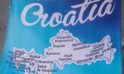 Chinese have problems spelling Croatian destinations on souvenir