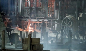 Jamie Foxx on set of Robin Hood: Origins in Dubrovnik