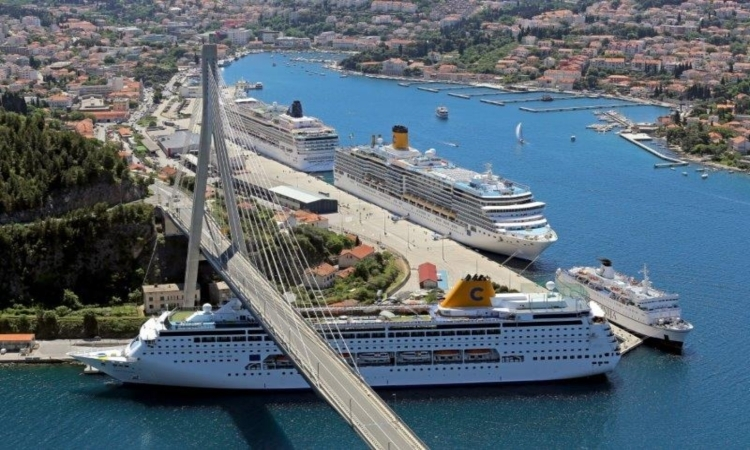 Dubrovnik the most visited seaport in Croatia with 518 cruise ship visits
