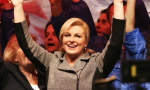 After five years of holding the Presidency of Croatia what did Kolinda Grabar-Kitarovic do