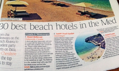 The Times names Hotel Bellevue as best beach hotel on the Med!