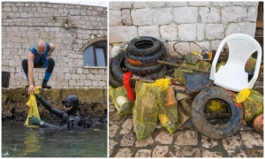 Sea-cleaning actions in Dubrovnik continue