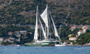 Rainbow Warrior III in Dubrovnik