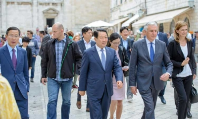 Vice-President of the National assembly of the Republic of Korea, Park Joo Sun, in Dubrovnik