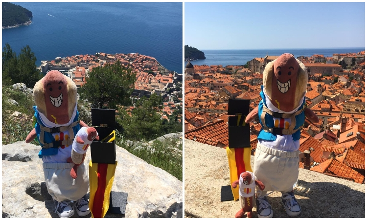 PHOTO – Hot dog that travels around the world visits Dubrovnik
