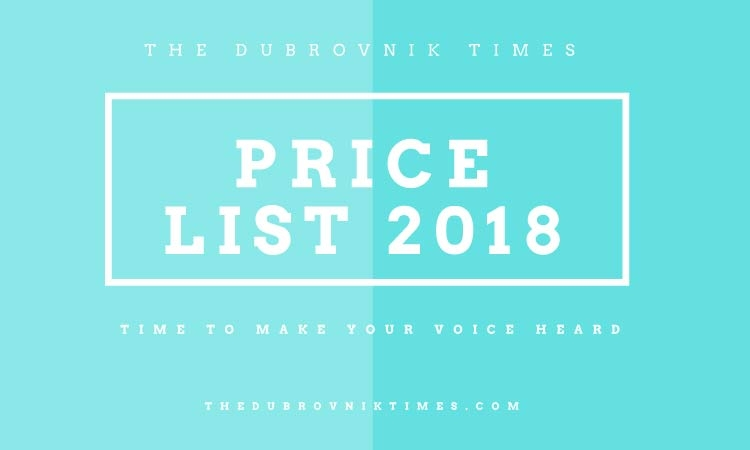 2018 Advertising Price List