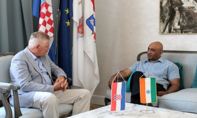 Ambassador of India Sandeep Kumar visits the mayor of Dubrovnik