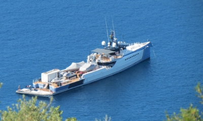 Shadow yacht in Dubrovnik
