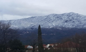 Snow returns to higher ground in Konavle