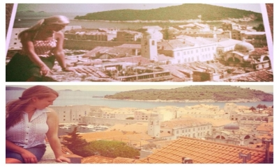 Daughter recreates 40 years old Dubrovnik photo