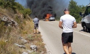 Car explodes into flames on deserted Konavle road
