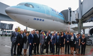 First Korean Air flight lands at Zagreb Airport