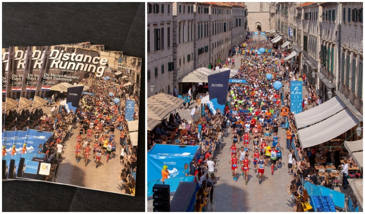 Dubrovnik Half Marathon on the front cover of Distance Running magazine