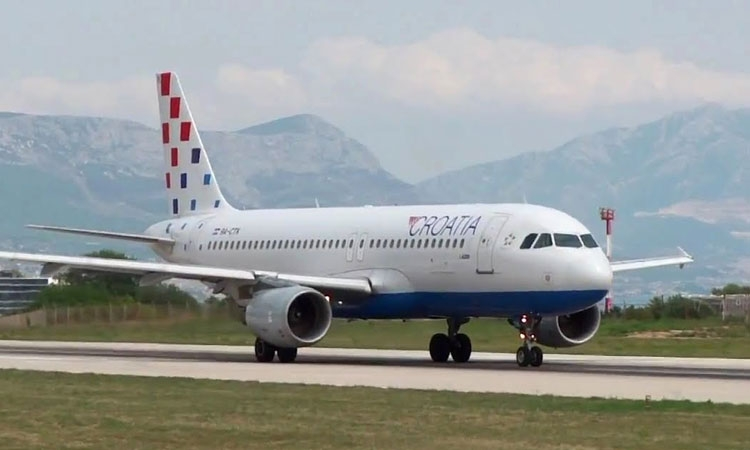 Croatia Airlines flight from London lands at Zagreb with only one engine