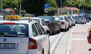 Chaos on Dubrovnik roads