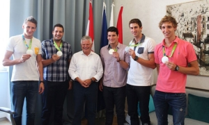 Dubrovnik Olympic heroes met the Mayor