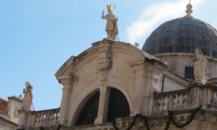 St. Blaise's Church in the centre of Dubrovnik