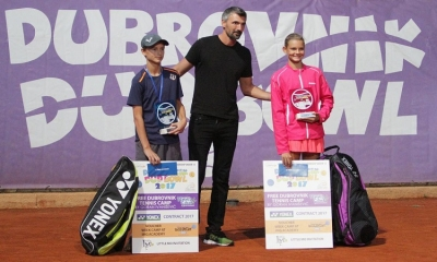 Dubrovnik Dud Bowl – Goran Ivanisevic congratulates the winners