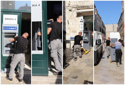 The removal of ATMs from the historical core of Dubrovnik started