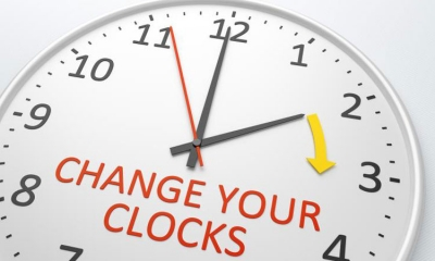 Don't forget to move your clocks forward on Sunday