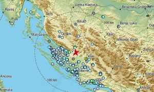 Earthquake hits 90 km north of Split