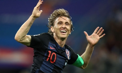 Luka Modrić nominated as UEFA player of the year