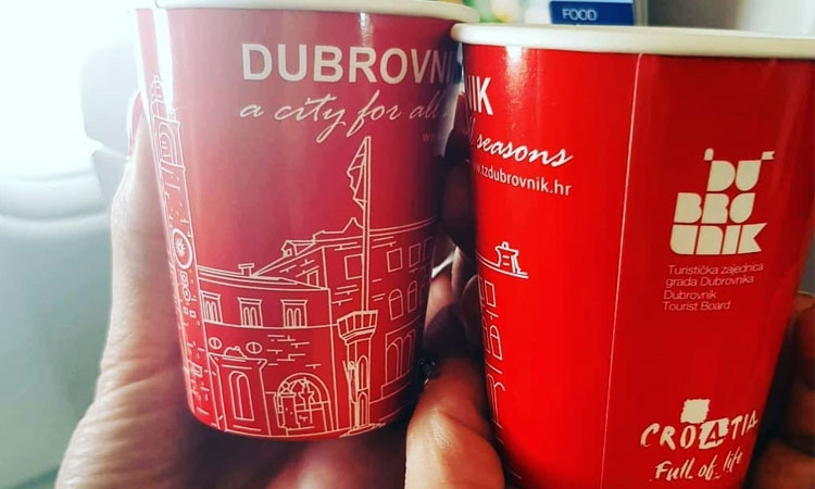 New Dubrovnik themed paper cups