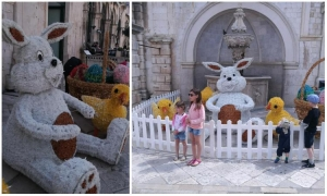 Easter decorations arrive to the Old City