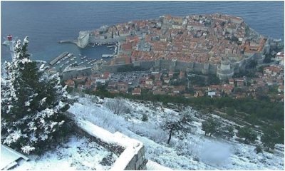VIEW OF THE DAY: Snow blanket above Dubrovnik