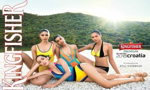 PHOTO – Kingfisher Calendar connects famous Indian models and Croatia