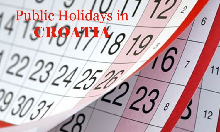 Public Holidays in Croatia in 2016