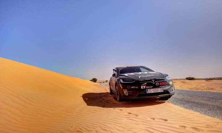 The first electric car to cross the Sahara is from Croatia
