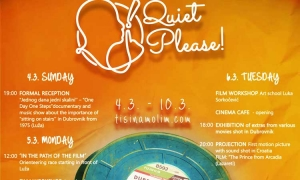 Quiet Please – the film festival is about to start