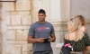 MMA star Alistair Cees Overeem enjoys a time out in Dubrovnik