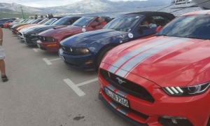 Ford Mustangs shine on the Korcula seafront