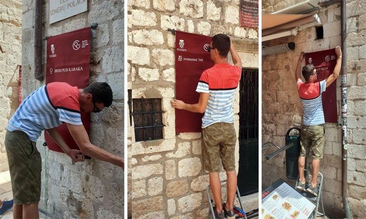 New signs around the Old City of Dubrovnik