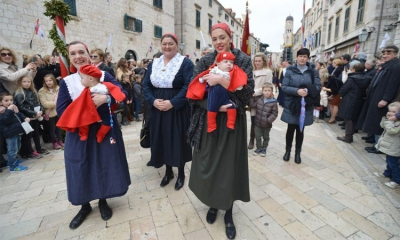 St. Blaise brings colour and life to Dubrovnik