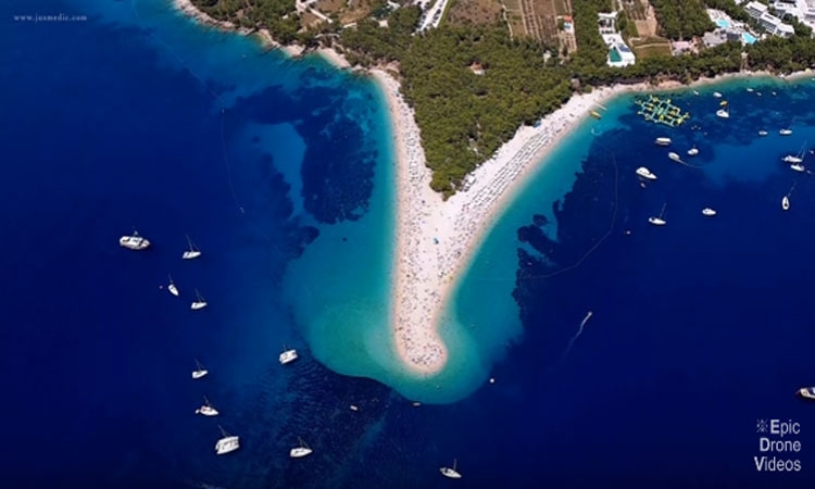 Surreal beauty - Drone Video Sailing in Croatia
