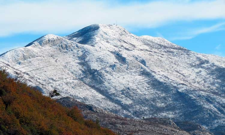 Snow topped mountains of Konavle