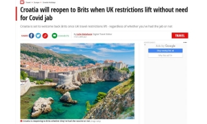 The Mirror: The British will soon be able to travel to Croatia