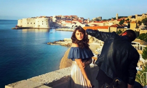 Huma Qureshi filming in Dubrovnik